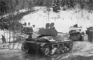 Talvisota_7th_Army_1939 soviet tanks winter war with finland